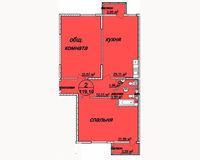 2 комнатная квартира 119.1 кв. м