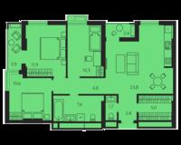 3 комнатная квартира 85.0 кв. м