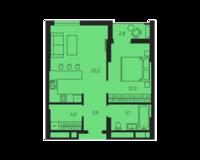 1 комнатная квартира 48.0 кв. м