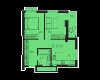 2 комнатная квартира 49.0 кв. м